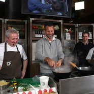 Gary Neville and the Hotel Football team cook up a storm at MFDF